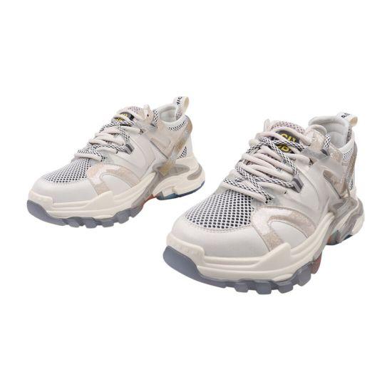 Кросівки жіночі з натуральної шкіри, на платформі, молочні, Li Fexpert