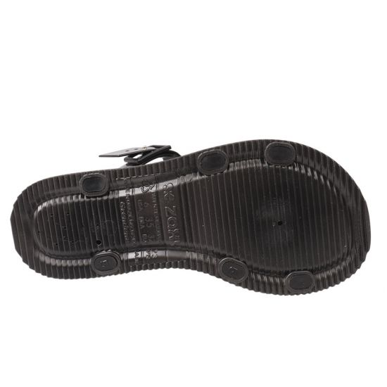 Босоніжки жіночі з гуми, на низькому ходу, з відкритою п'ятою, колір чорний, Бразилія Grendene 14-21LBC