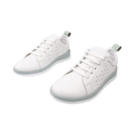 Кеди жіночі з натуральної шкіри, на низькому ходу, на шнурівці, колір білий, Туреччина Molly Bessa