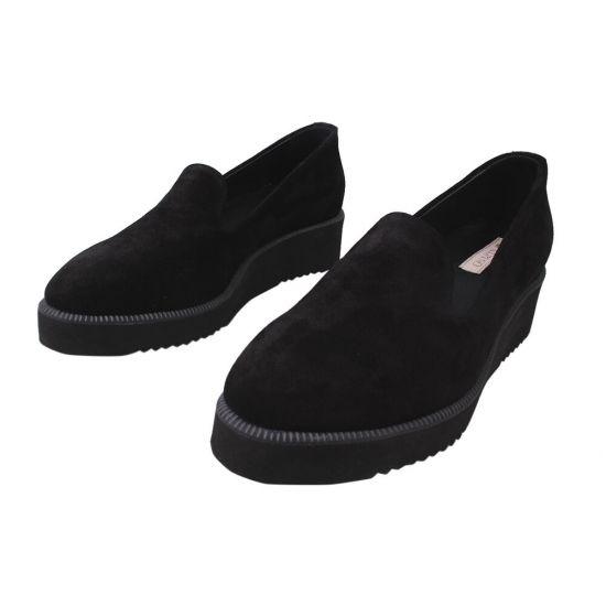 Туфлі жіночі Alpino Натуральна замша, колір чорний