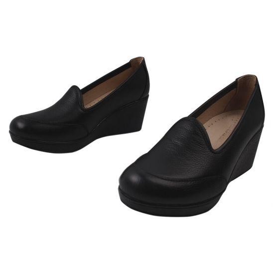 Туфлі на платформі жіночі Gossi натуральна шкіра, колір чорний