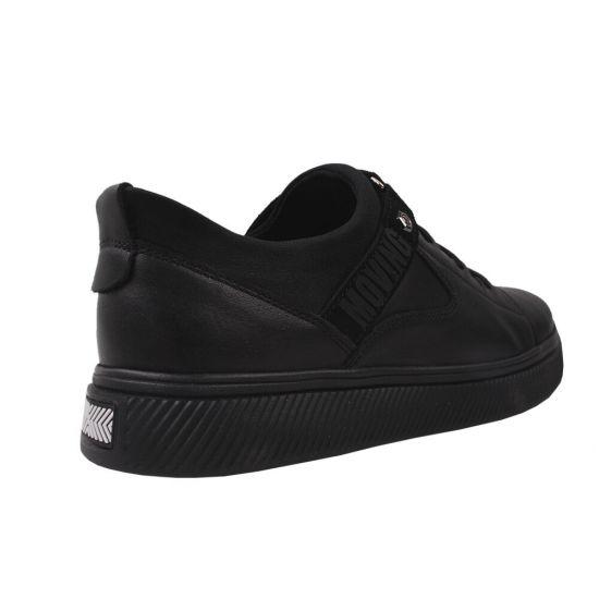 Туфлі спорт чоловічі натуральна шкіра, колір чорний
