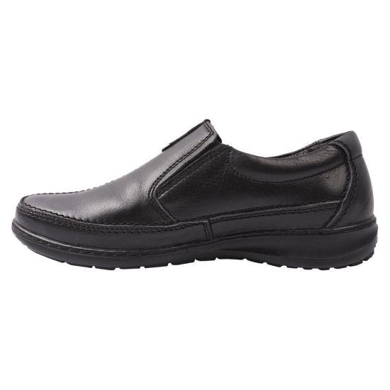 Туфлі комфорт чоловічі Konors натуральна шкіра, колір чорний