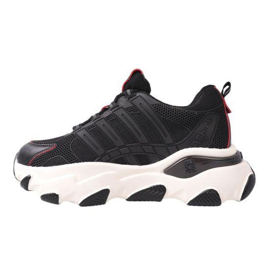 Кросівки жіночі з текстилю, на низькому ходу, на шнурівці, чорні, Li Fexpert
