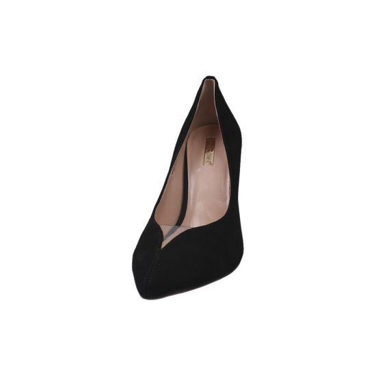 Туфлі на шпильці жіночі Натуральна замша, колір чорний