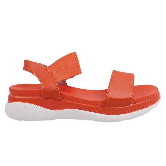 Босоніжки жіночі, стильні, на низькому ходу, колір помаранчевий, Stefaniya Nina