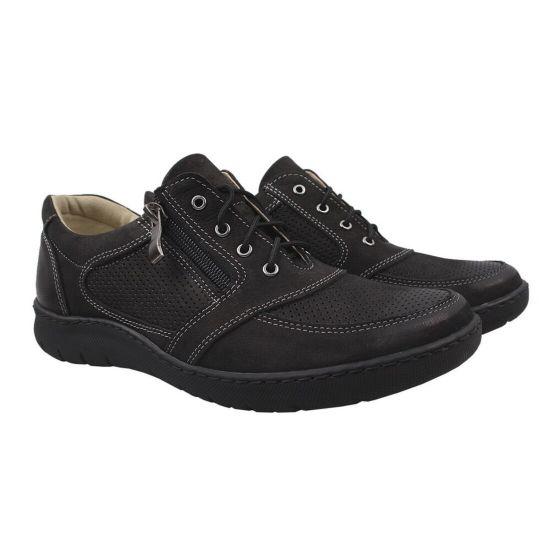 Туфлі комфорт J&T Нубук, колір чорний
