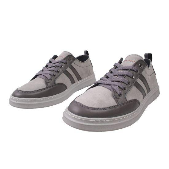 Туфлі спорт чоловічі Натуральна замша, колір сірий