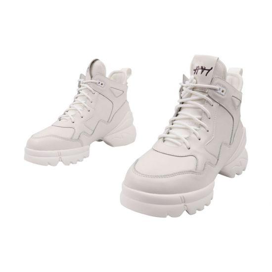 Кросівки жіночі Arees натуральна шкіра, колір білий