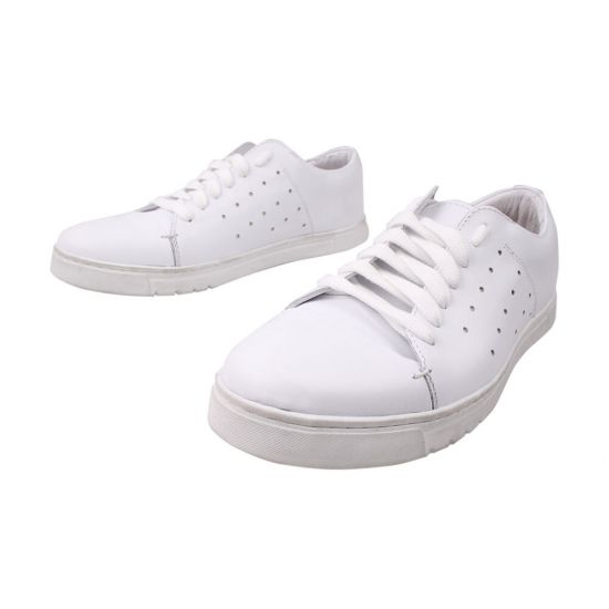 Туфлі спорт чоловічі Vadrus натуральна шкіра, колір білий