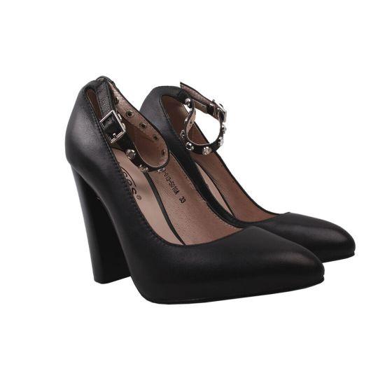 Туфлі жіночі Erisses натуральна шкіра, колір чорний