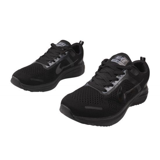 Кросівки чоловічі з текстилю, на низькому ходу, на шнурівці, колір чорний, Nike