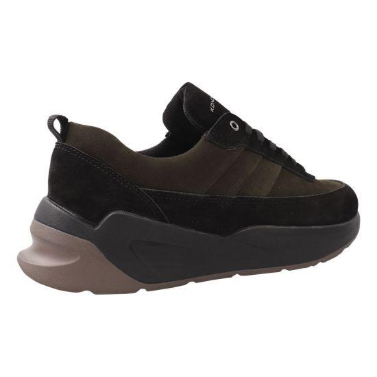 Туфлі спорт чоловічі Konors Нубук, колір чорний