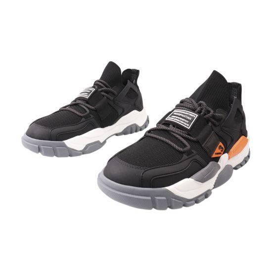 Кросівки чоловічі з текстилю, на низькому ходу, на шнурівці, чорні, Arees