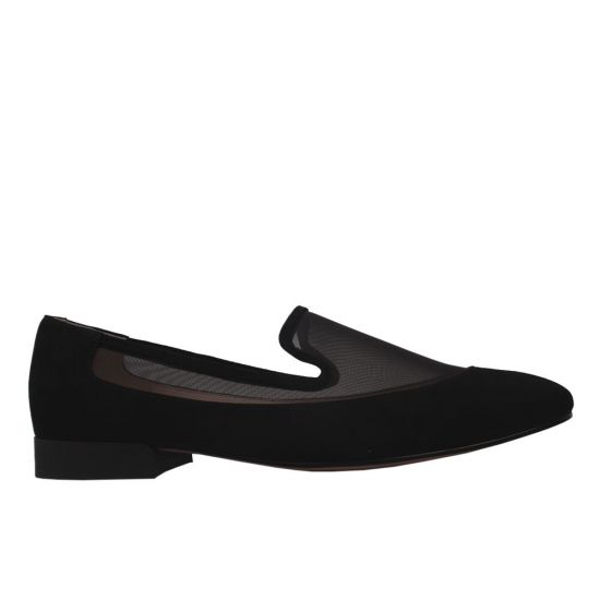 Туфлі комфорт жіночі Натуральна замша, колір чорний