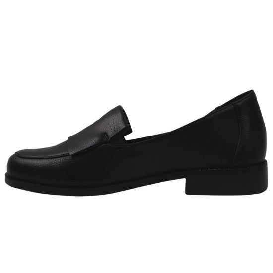 Туфлі жіночі з натуральної шкіри, на низькому ходу, чорні, Gelsomino
