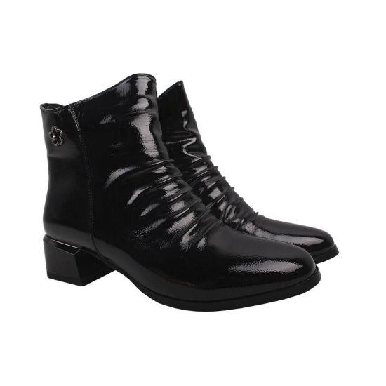 Ботильйони жіночі Gelsomino еко лак, колір чорний
