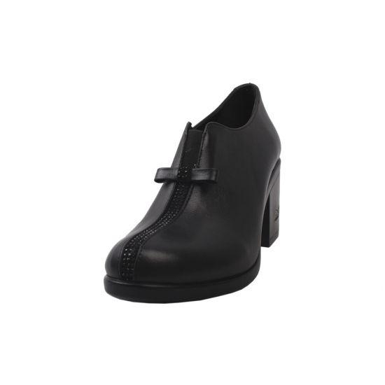 Туфлі жіночі Guero натуральна шкіра, колір чорний