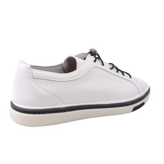 Кеди чоловічі з натуральної шкіри, на низькому ходу, на шнурівці, колір білий, Vadrus