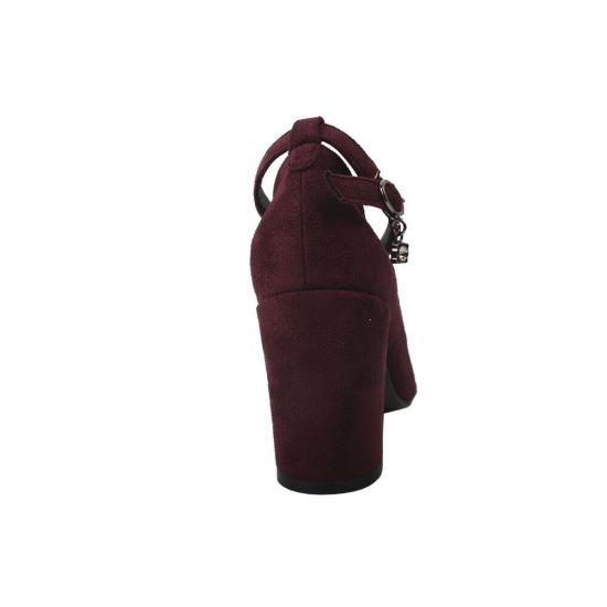 Туфлі жіночі Liici еко замш, колір бордо
