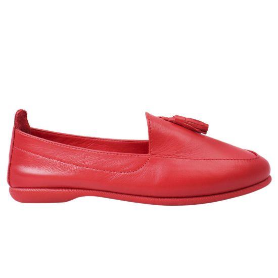 Туфлі жіночі з натуральної шкіри, на низькому ходу, червоні, Туреччина Gossi