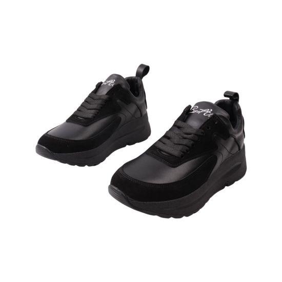 Кросівки жіночі Best Vak чорні натуральна шкіра