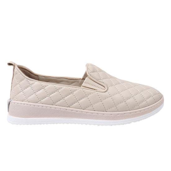 Туфлі жіночі з натуральної шкіри, на низькому ходу, колір бежевий, Molly Bessa