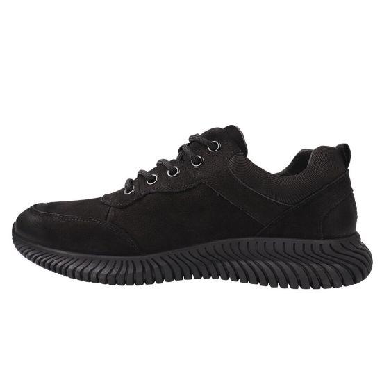 Туфлі комфорт чоловічі Berisstini Нубук, колір чорний