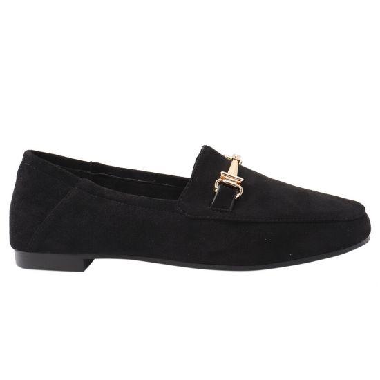 Туфлі жіночі з еко замші, на низькому ходу, чорні, Liici