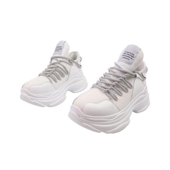Кросівки жіночі з текстилю, на платформі, на шнурівці, білі, Li Fexpert