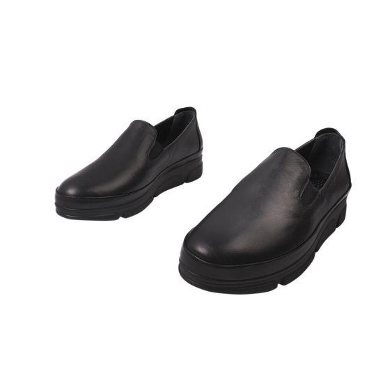 Туфлі жіночі з натуральної шкіри, на низькому ходу, чорні, Туреччина Mario Muzi