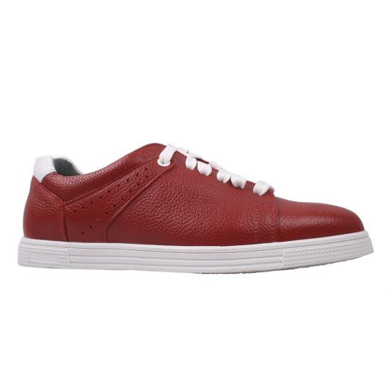 Туфлі спорт чоловічі натуральна шкіра, колір червоний