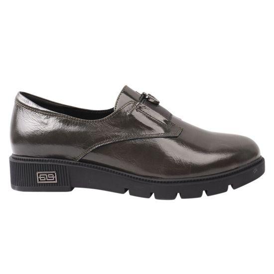 Туфлі жіночі з натуральної шкіри, на платформі, зелені, Polann