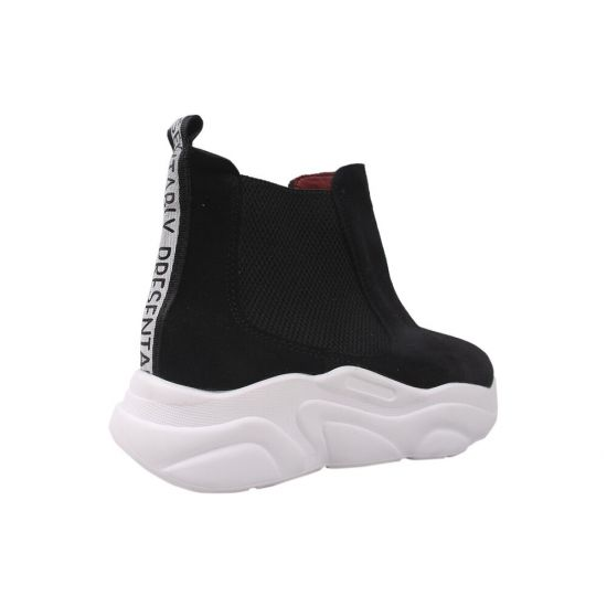 Кросівки жіночі Maxus Shoes Натуральна замша, колір чорний