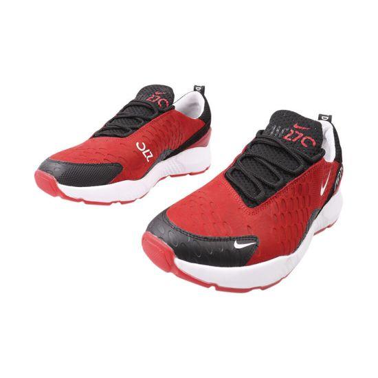 Кросівки чоловічі з натуральної шкіри (нубук), на низькому ходу, на шнурівці, колір червоний, MDK
