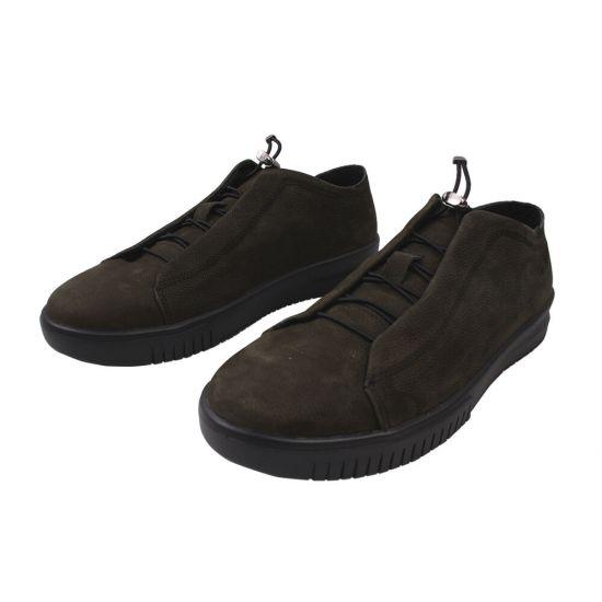Туфлі спорт чоловічі Vadrus Нубук, колір зелений