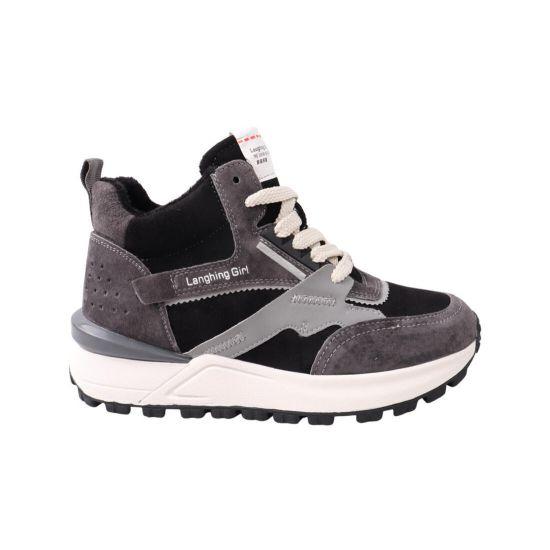 Кросівки жіночі Li Fexpert чорні натуральна замша 764-21DKH