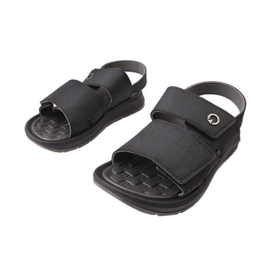 Босоніжки чоловічі з гуми, на низькому ходу, з відкритою п'ятою, колір чорний, Бразилія Grendene