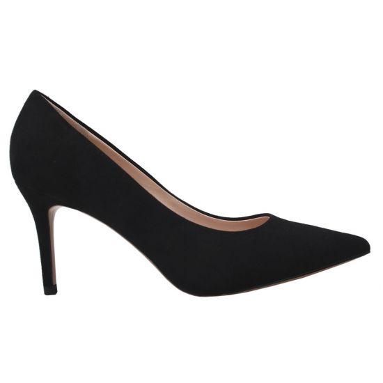 Туфлі жіночі з натуральної замші, на шпильці, чорні, Anemone