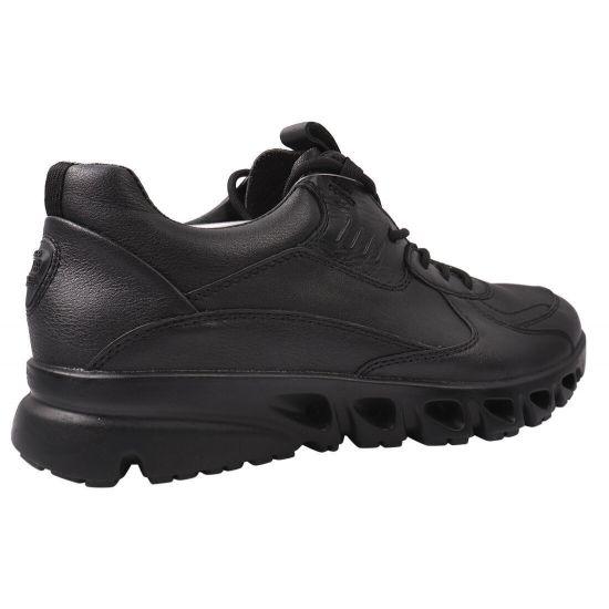 Кросівки жіночі з натуральної шкіри, на шнурівці, чорні, Ecco