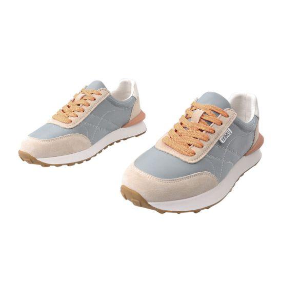 Кросівки жіночі з текстилю, на низькому ходу, на шнурівці, оливкові, Li Fexpert