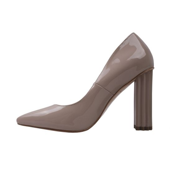 Туфлі жіночі еко лак, колір бежевий