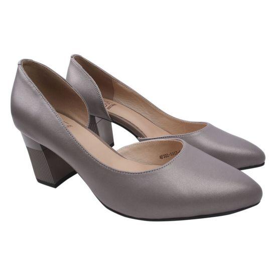Туфлі жіночі Molka натуральна шкіра, колір сірий