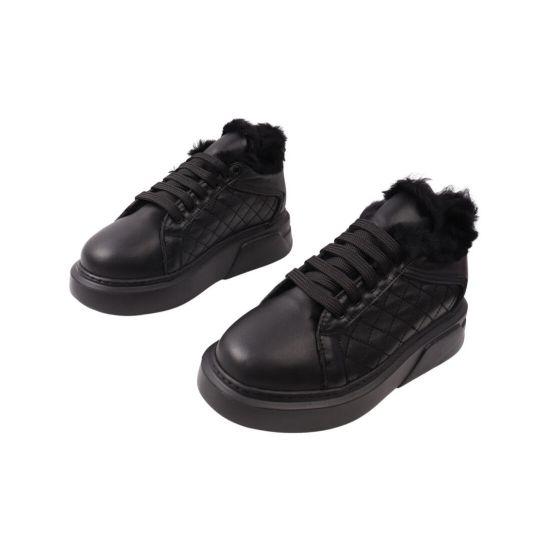 Кросівки жіночі Aquamarin чорні натуральна шкіра 2003-22ZHC