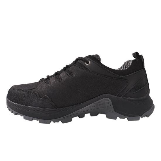 Кросівки чоловічі з натуральної шкіри, на низькому ходу, на шнурівці, колір чорний, Україна MDK