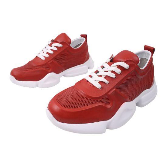 Кросівки жіночі Euromoda натуральна шкіра, колір червоний 427-20DTS