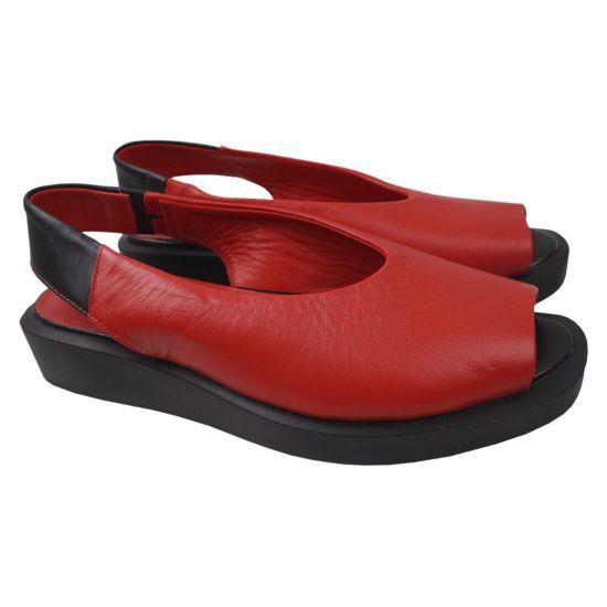 Босоніжки на платформі жіночі Trio Trend натуральна шкіра, колір червоний 69-20LBC