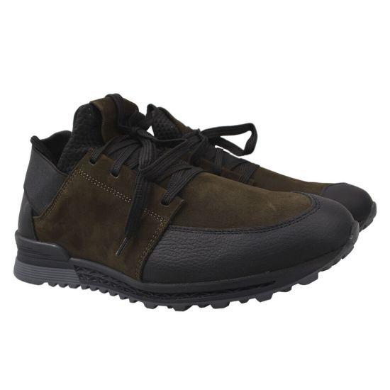Туфлі спорт чоловічі Mida Натуральна замша, колір зелений