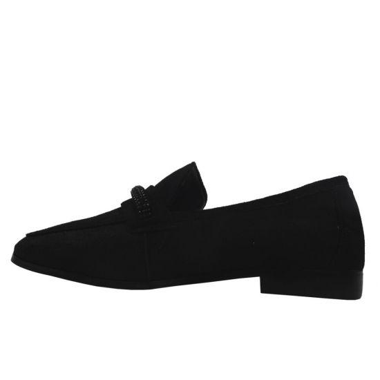 Туфлі жіночі еко замш, колір чорний