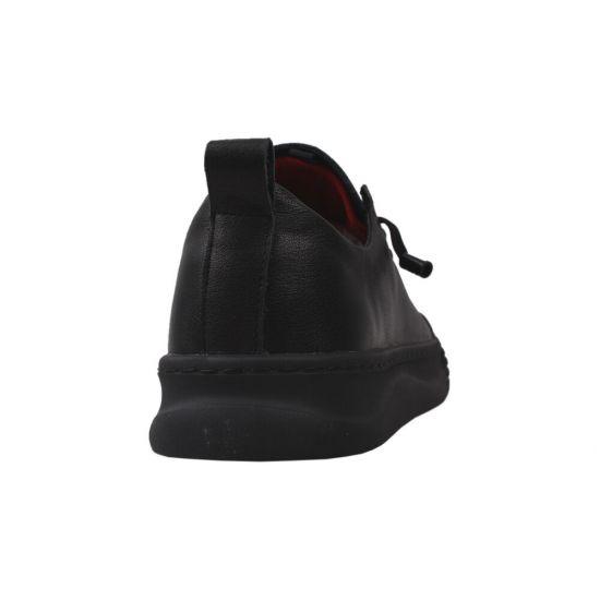 Туфлі комфорт чоловічі Arees натуральна шкіра, колір чорний